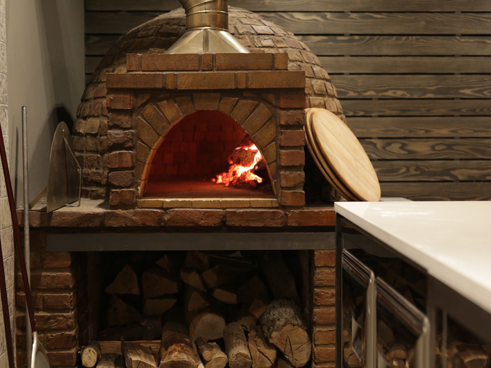 Barrel brick oven